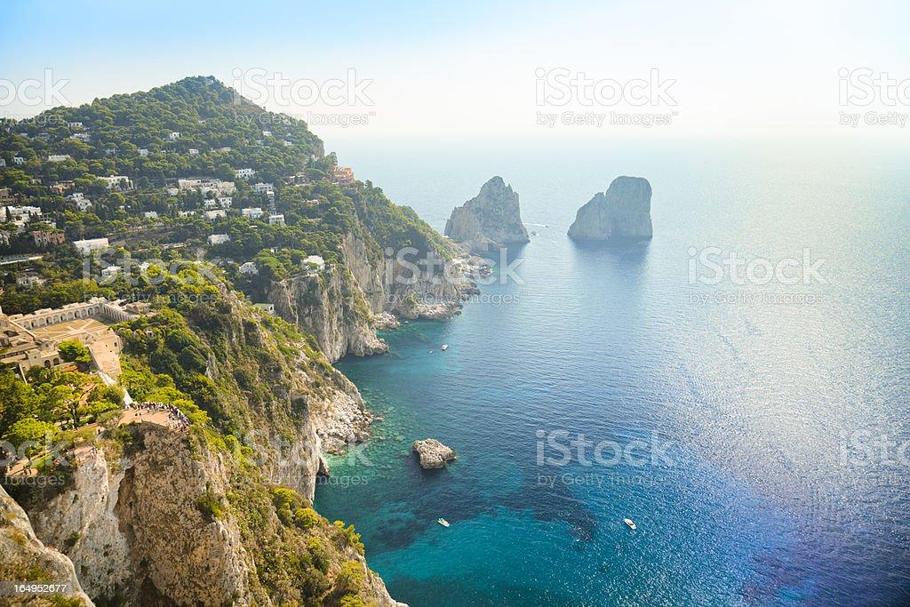 Faraglioni rocks - natural landmark of Capri island in Italy.