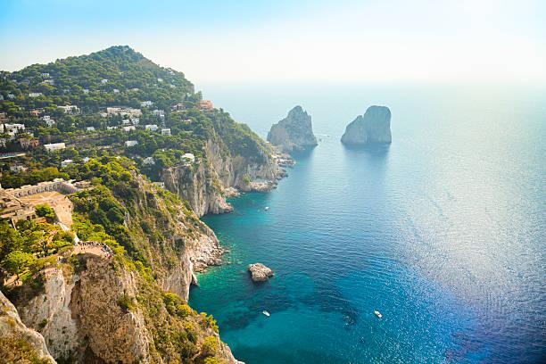 Faraglioni-Felsen-Naturwunder der Insel Capri in Italien. – Foto