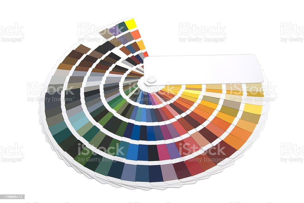 Farbfächer für Designer und Druckindustrie stock photo