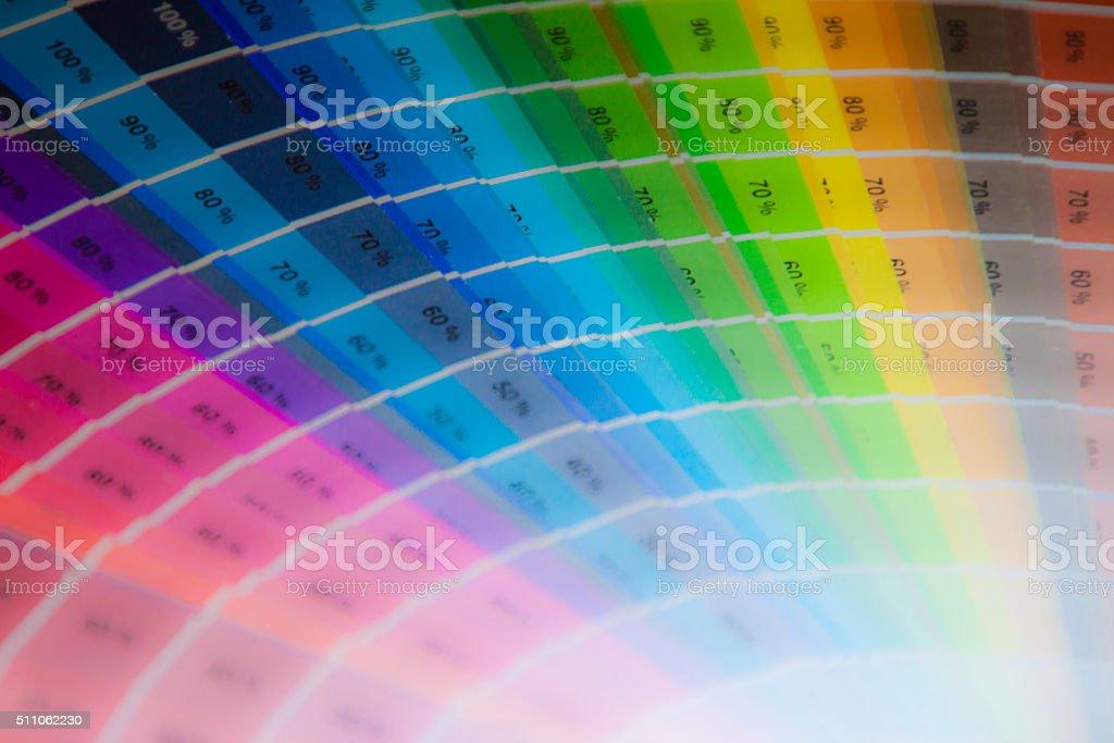 Farbfächer stock photo