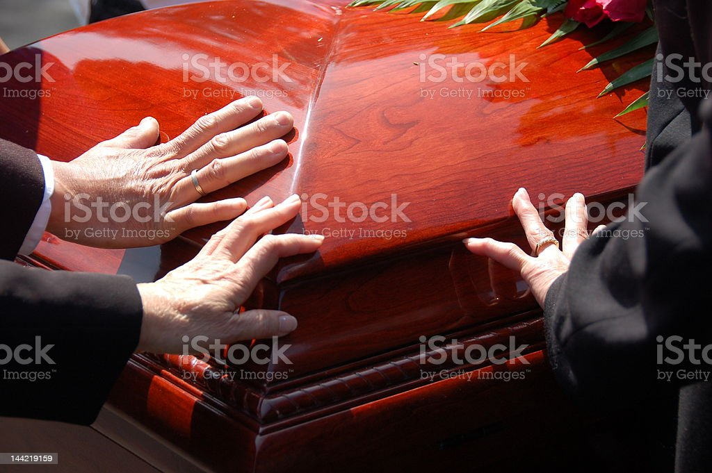 Farewell Closed Casket royalty-free stock photo