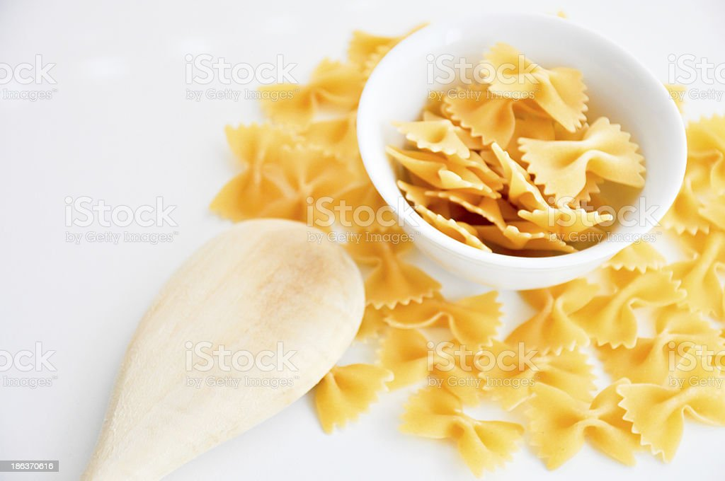 farfalle pasta in a bowl royalty-free stock photo