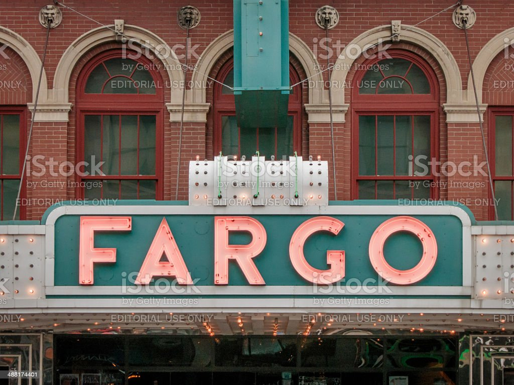 Fargo Theater Marquee stock photo
