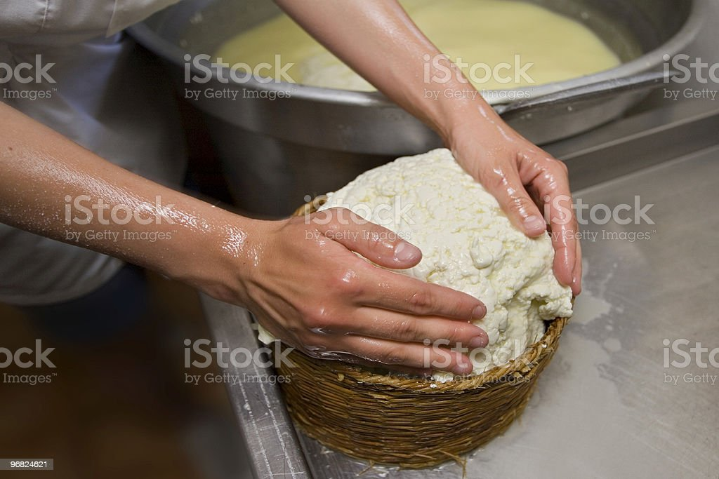 Farindola cheese in a basket royalty-free stock photo