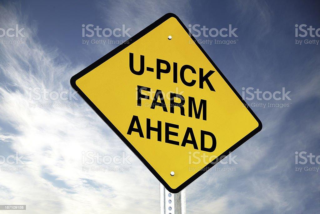 U-PICK farm ahead royalty-free stock photo