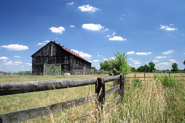 Farm and Barn stock photo