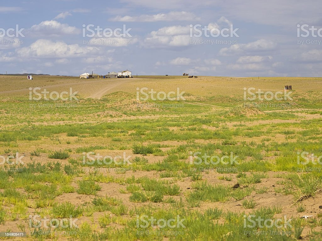 Farm and Gobi royalty-free stock photo