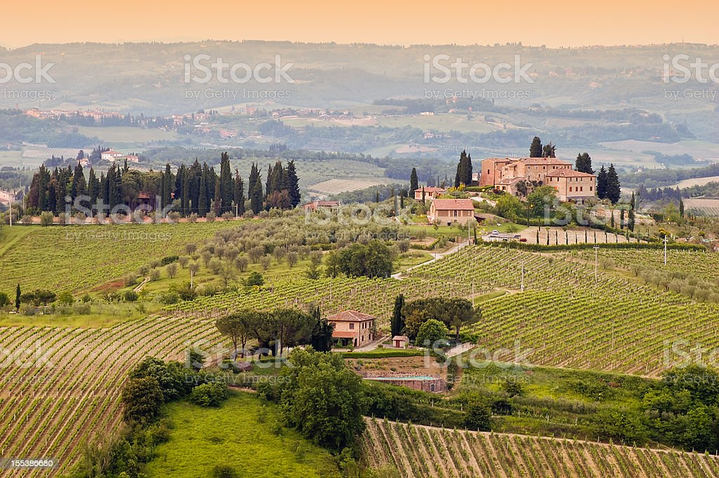 Farm at Tuscany royalty-free stock photo