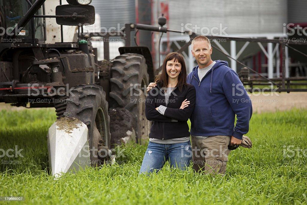 Farm Couple royalty-free stock photo