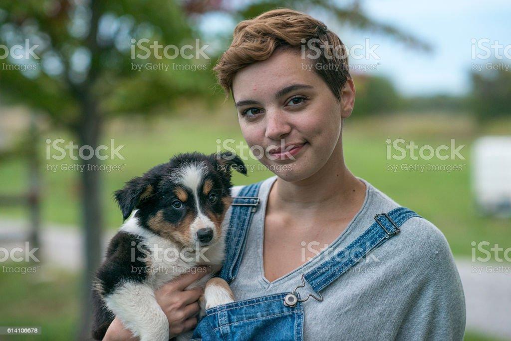 Farm perro - foto de stock