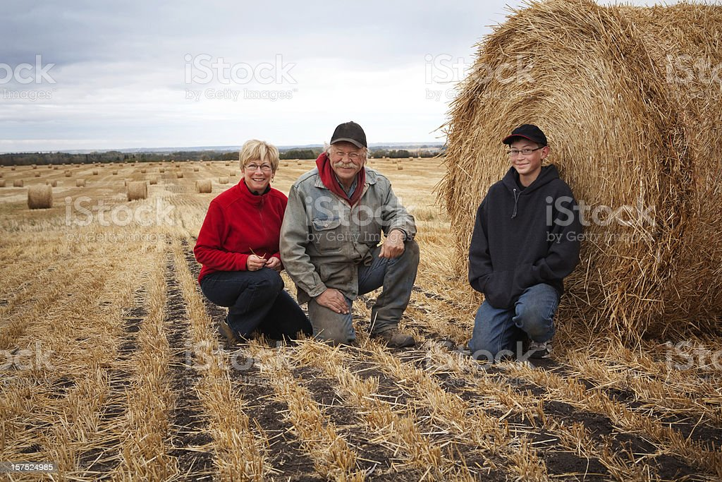 Farm Family royalty-free stock photo