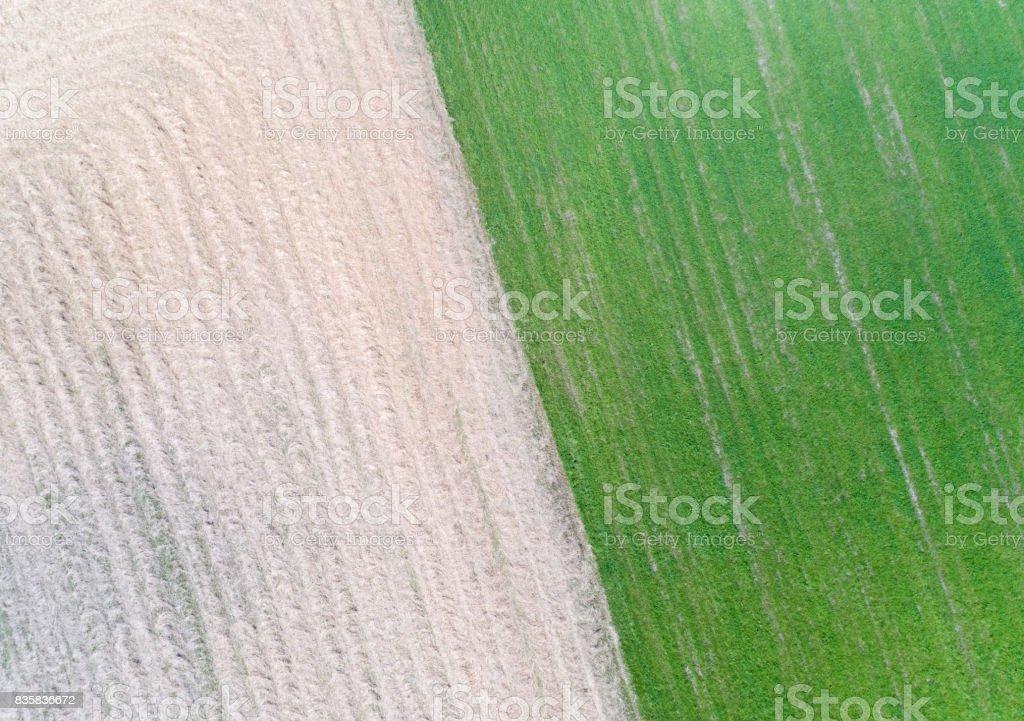 Ackerflächen, Luftaufnahme – Foto