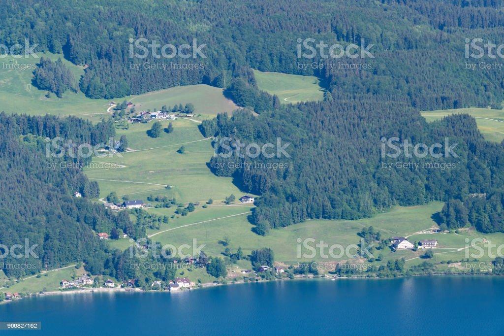 Bauernhof, Wald und Natur pur, Attersee, Österreichische Alpen, Österreich – Foto