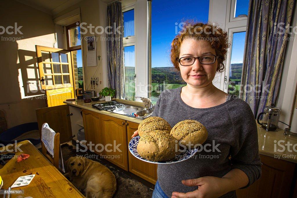 Farm Fresh Bread stock photo