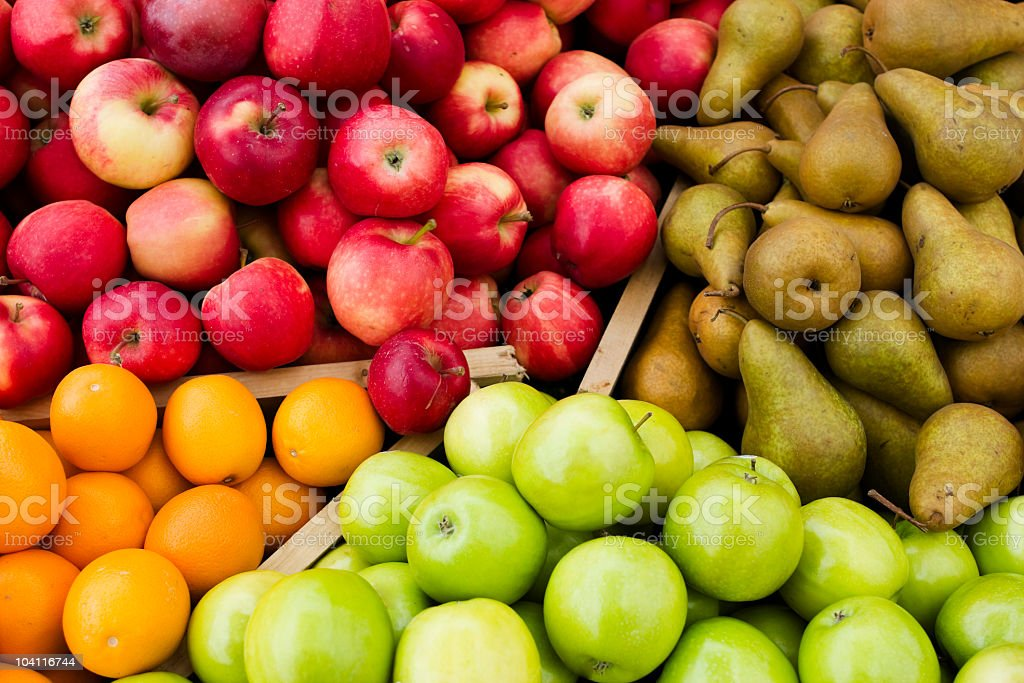 Farm Fresh Organic Apples stock photo
