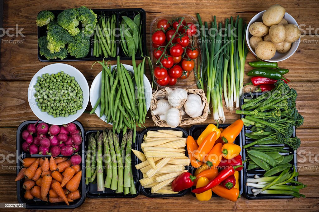farm fresh vegetables stock photo