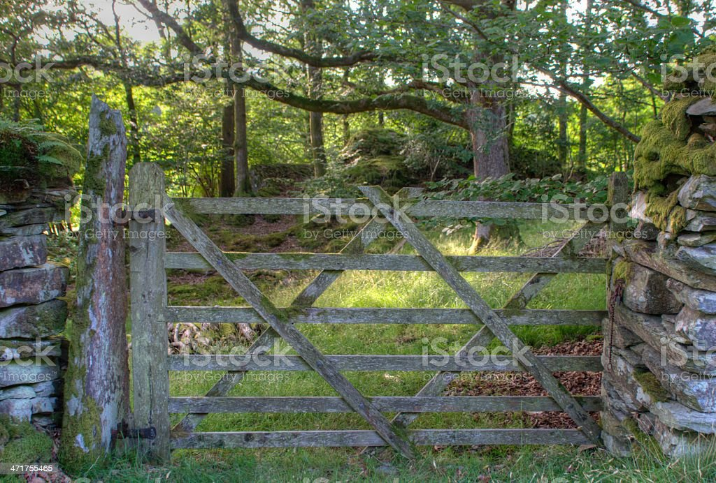 Farm Gate Cumbria royalty-free stock photo
