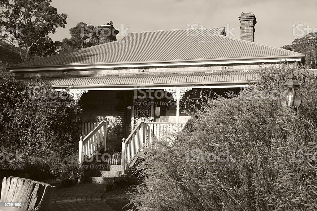 Farm House - 1900's Victorian Sepia royalty-free stock photo