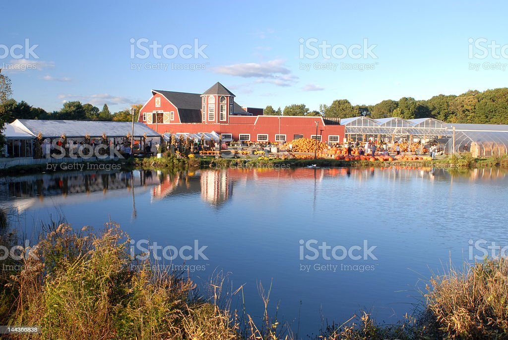 Farm House at Harvest II royalty-free stock photo