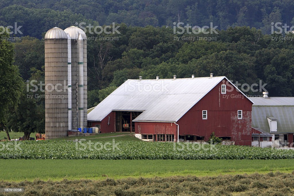 Farm house royalty-free stock photo
