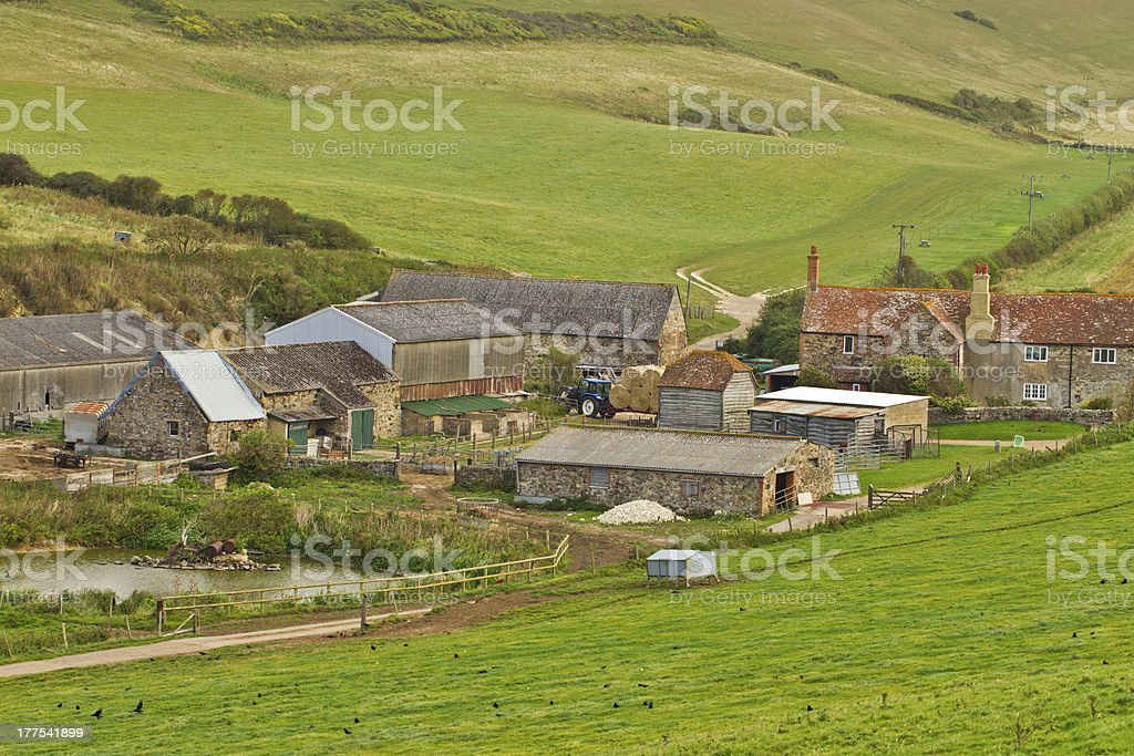 Farm in England stock photo