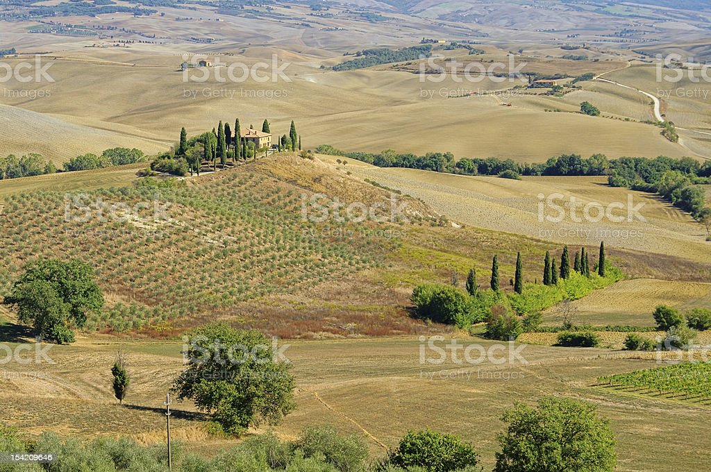 Podere in fall stock photo