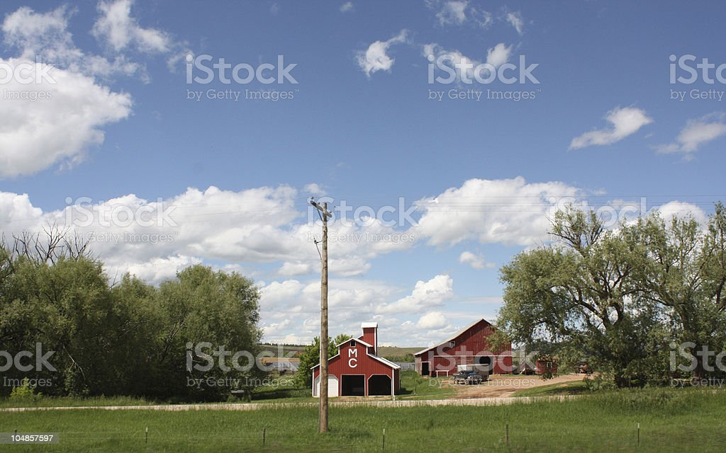 Farm in midwestern United States royalty-free stock photo