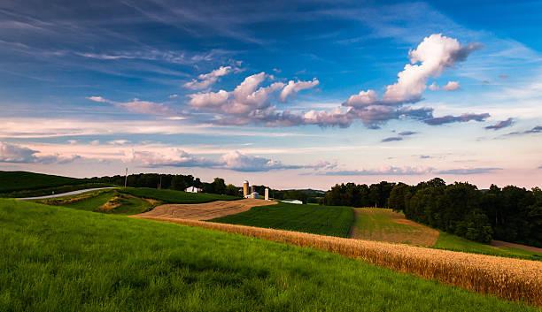 Farm in rural Southern York County, Pennsylvania. stock photo
