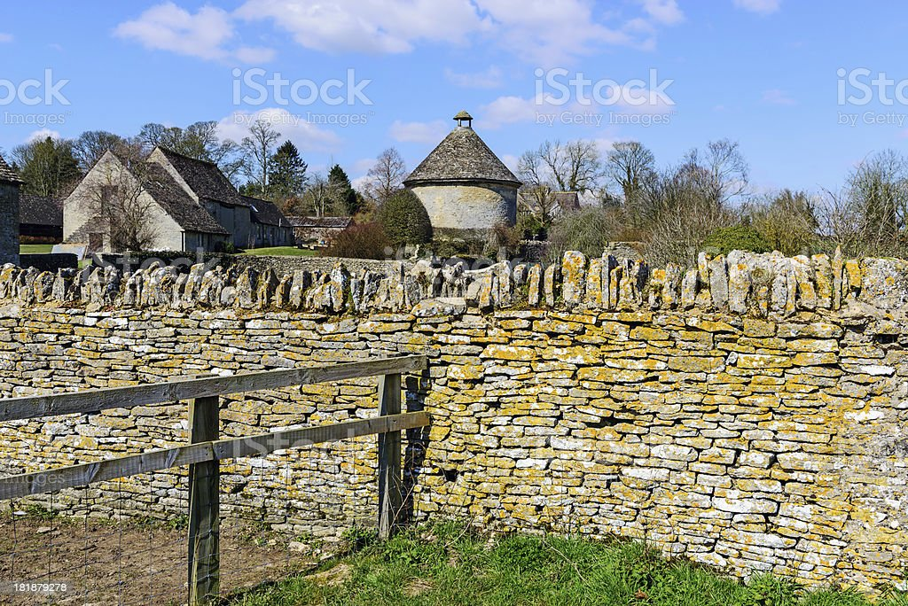 Farm in the Cotswolds, England stock photo