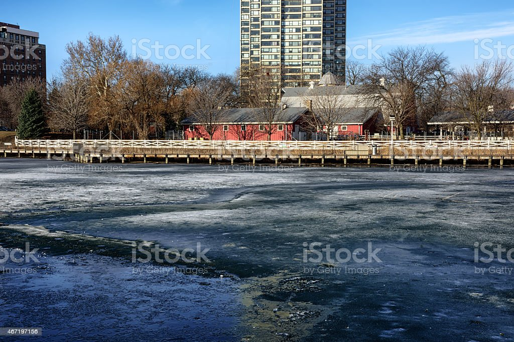 Farm in the Zoo, Lincoln Park,  Chicago stock photo