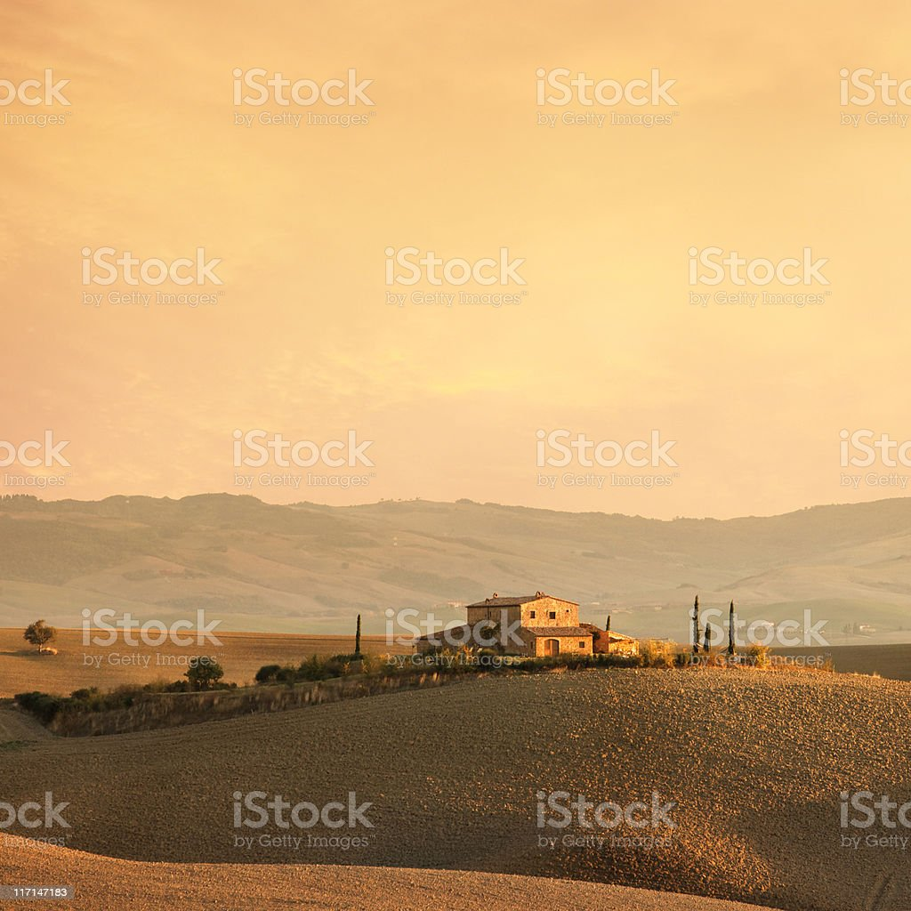 Farm in Tuscany royalty-free stock photo