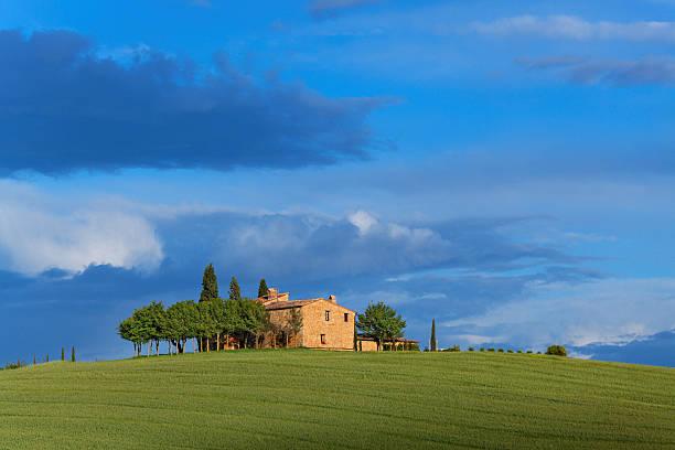 Farm in Tuscany stock photo
