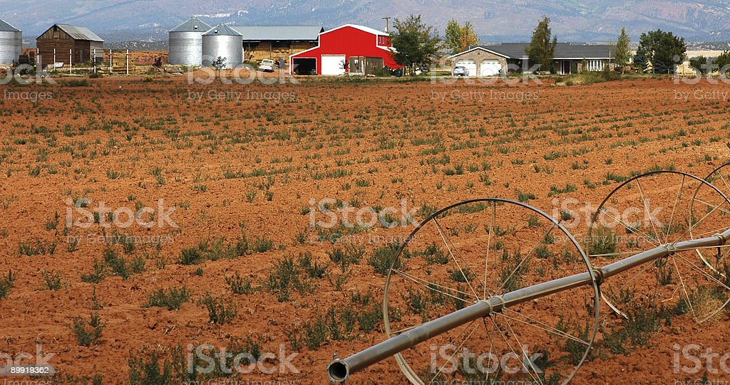 Farm in Utah stock photo