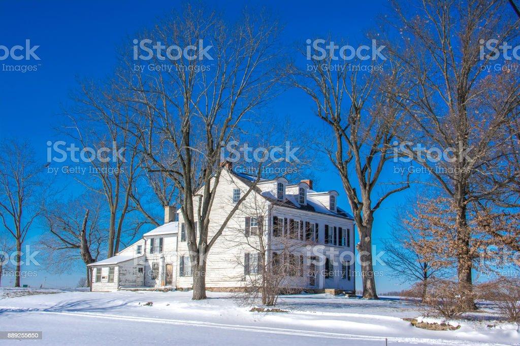 Farm in Yardley, Bucks County, Pennsylvania, USA stock photo