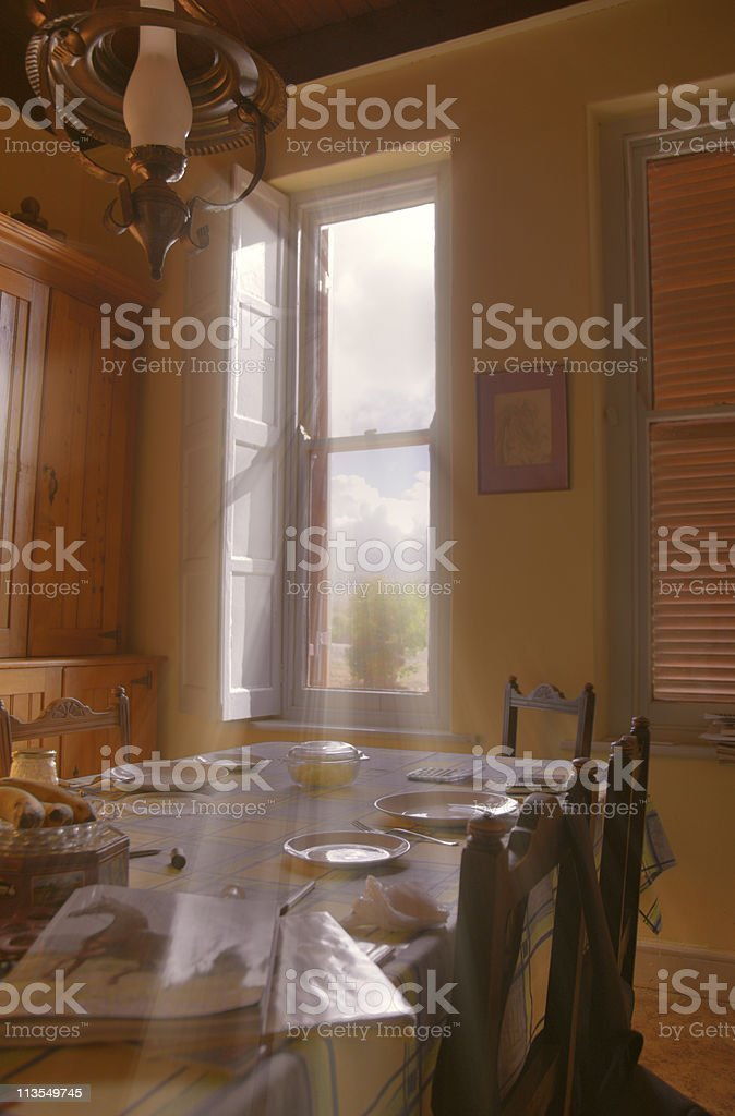 Farm kitchen stock photo