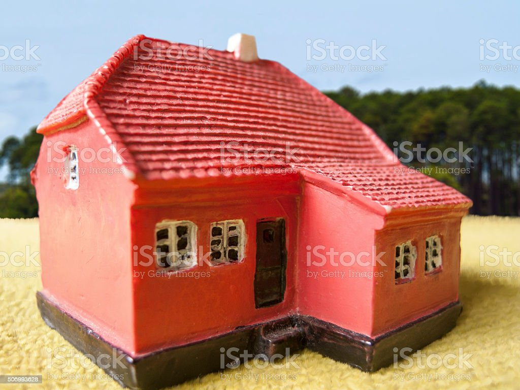 Farm land house stock photo