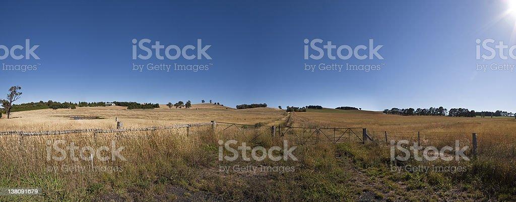 Farm land near Bathurst NSW Australia royalty-free stock photo