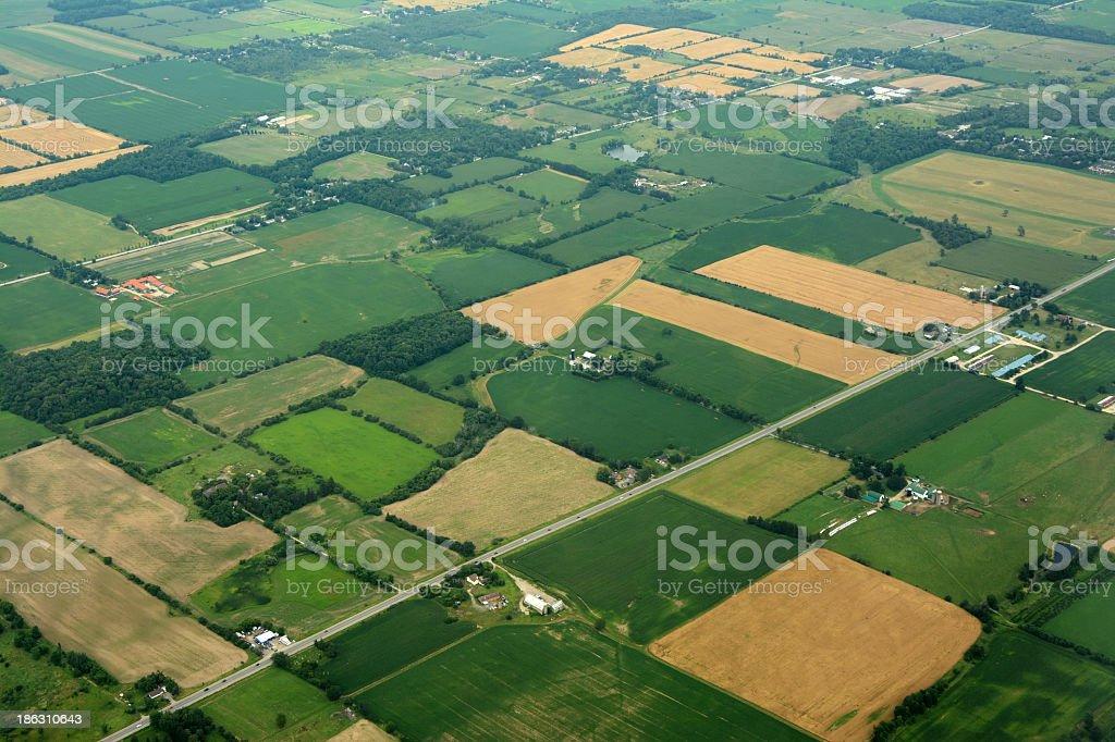Farm land, Ontario Canada stock photo