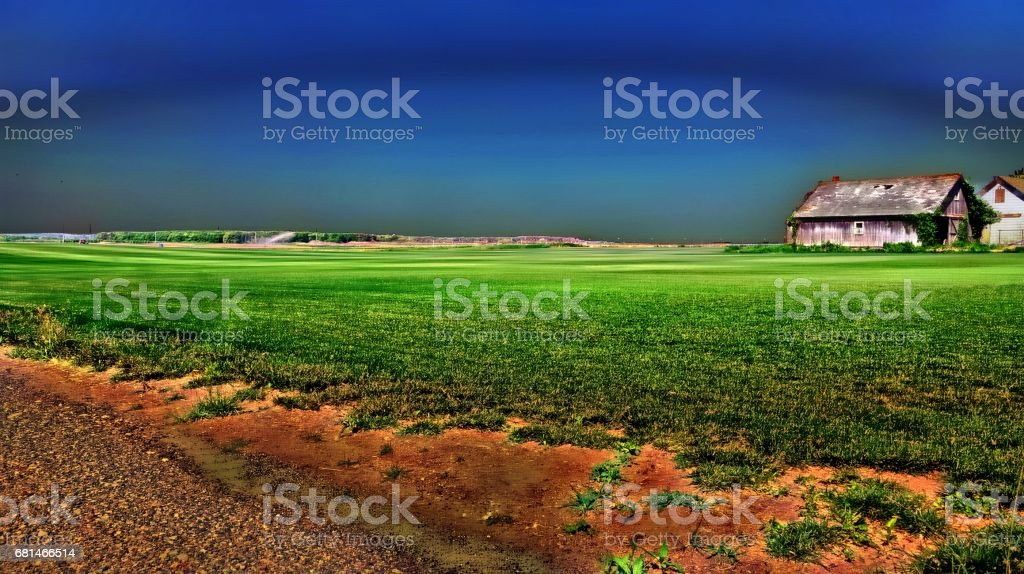 Farm Landscape Or Farmland royalty-free stock photo
