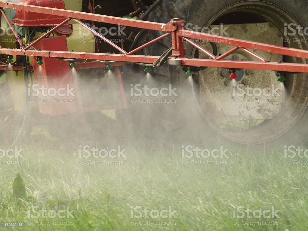A farm machine spraying the crops  royalty-free stock photo