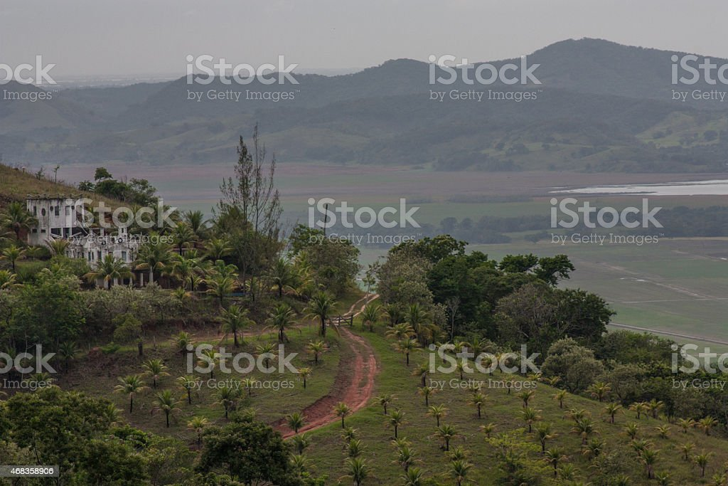Farm on the Hill royalty-free stock photo