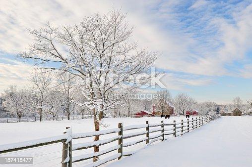 Peter Wentz Farm in winter, Worcester, Pennsylvania, USA