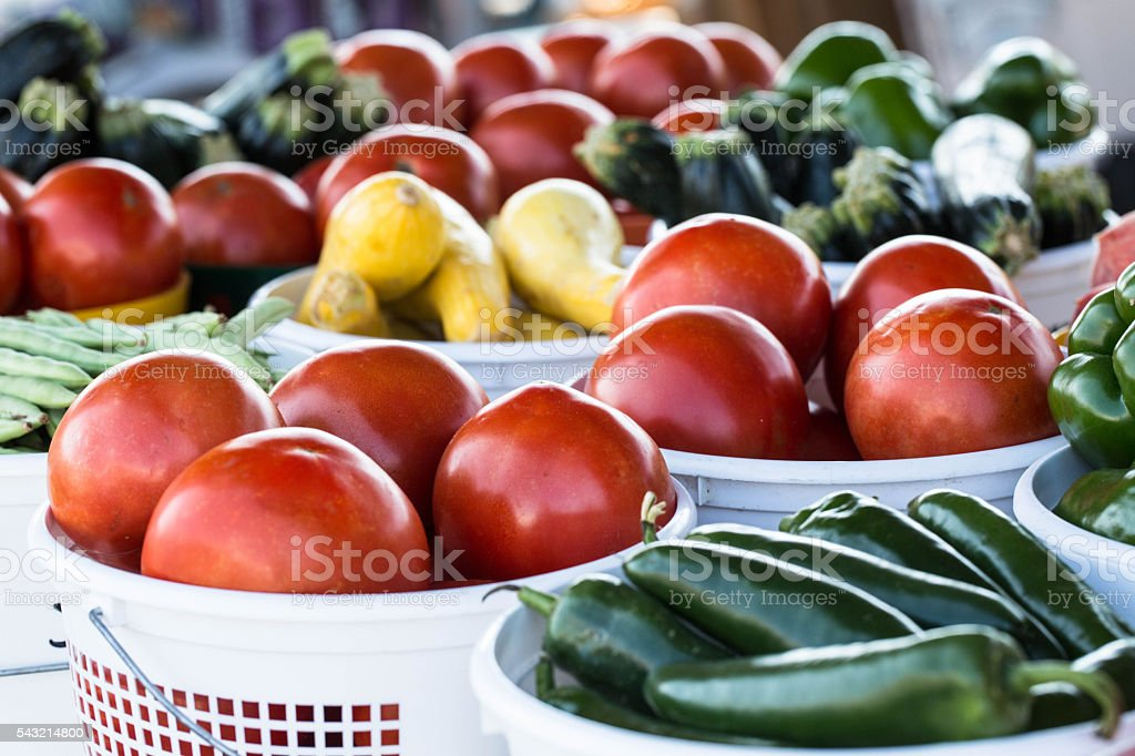 Farm To Table Vegetables at Farmers Market stock photo