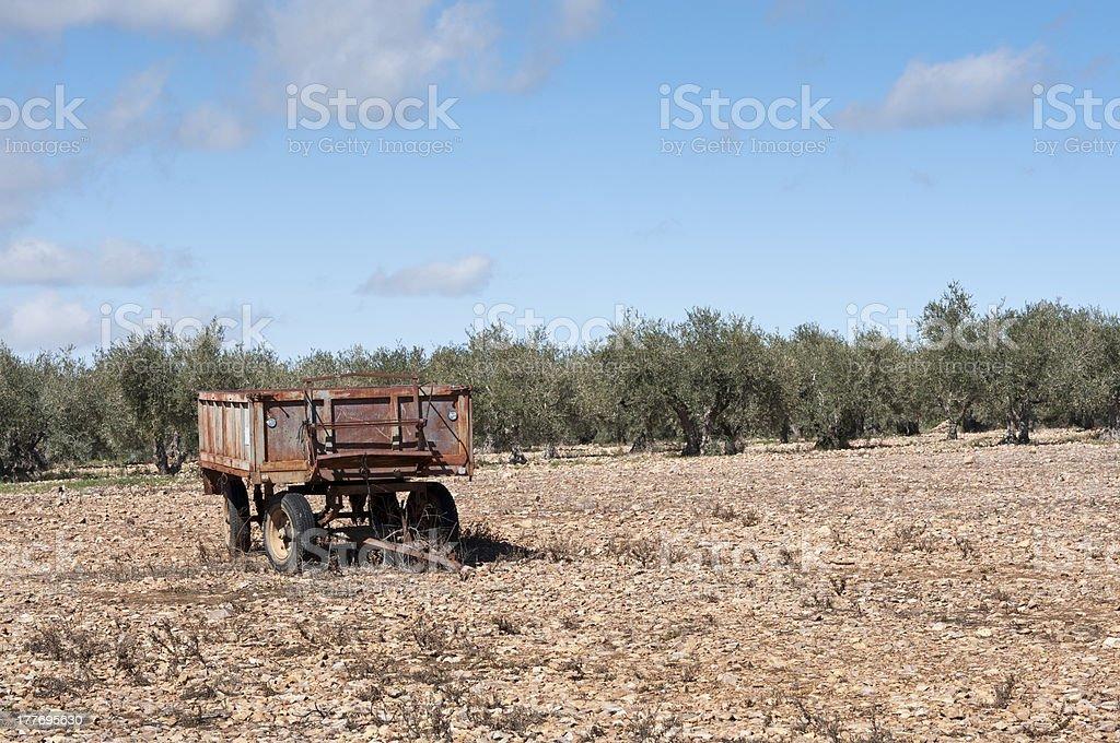 Farm trailer stock photo