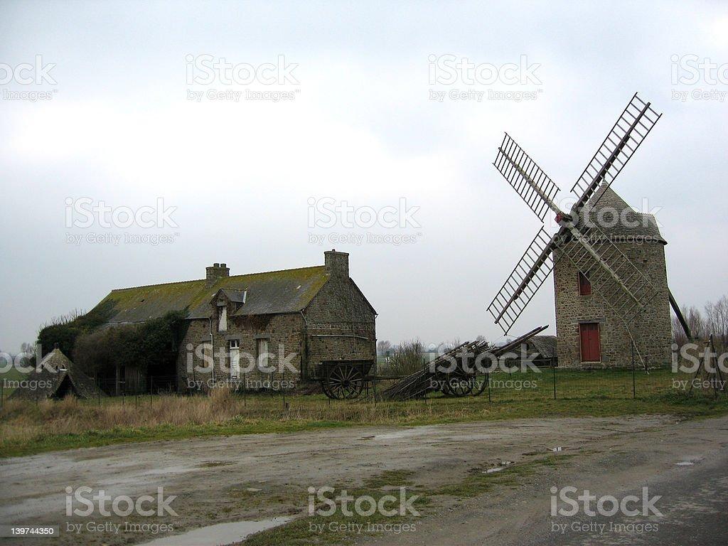 farm windmill stock photo