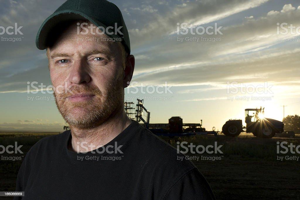 Farmer at Dawn royalty-free stock photo