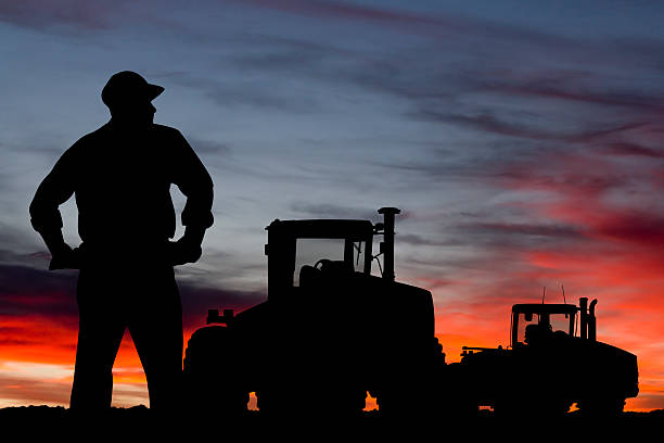 Farmer in der Dämmerung – Foto