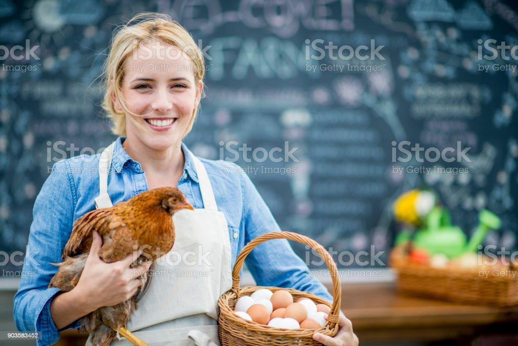 Agriculteur au marché - Photo