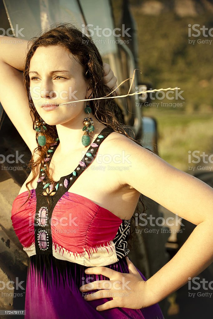 Farmer Girl... royalty-free stock photo