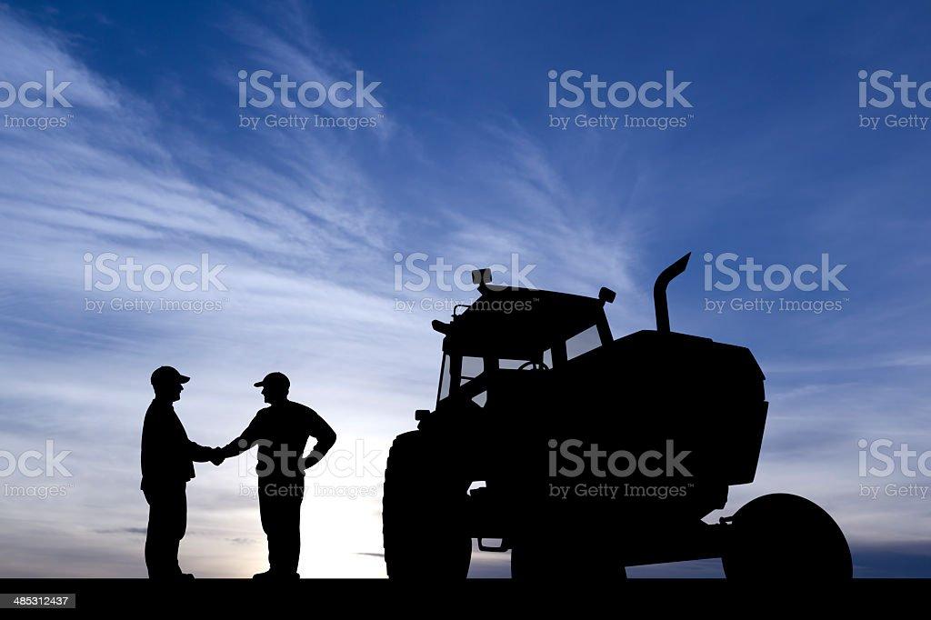 Landwirt Hände schütteln – Foto